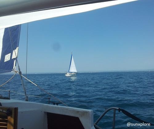 Navigation a voile en méditéranée