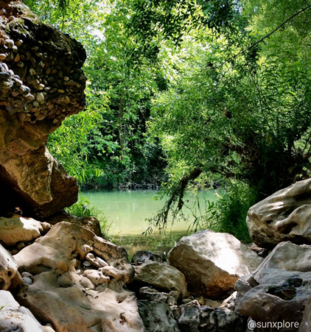 La rivière à bagnols sur cèze