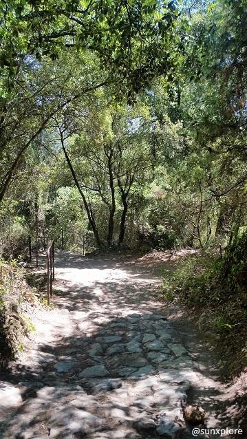 Le chemin de randonnée qui mène à la cascade de sillans dans le var