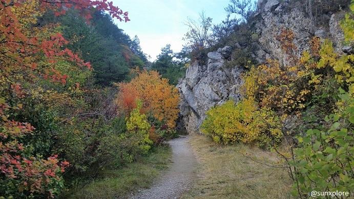 Une promenade familiale dans la Drôme à la cascade d'aiguebelle de Pontaix