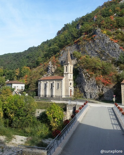 L'église de Pontaix dans la Drôme