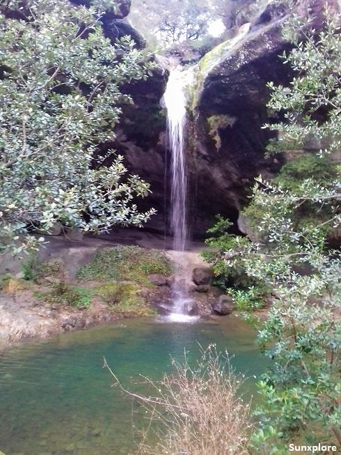 La chute de Baumicou en Ardèche