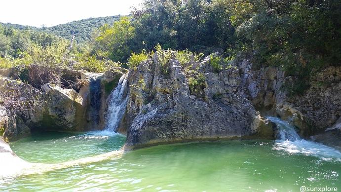 Les petites aiguières, des cascades dans le Gard