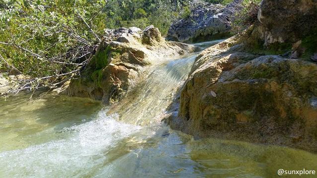 Les toboggans naturel des Aiguières dans le Gard - Occitanie