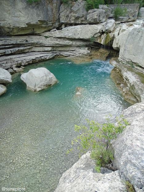 Baignade et promenade entre les cascades des hautes-alpes